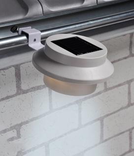 4er-Set Dachrinnenleuchte LED Solar mit 3 Power-LED´s Wegeleuchte Hofbeleuchtung - Vorschau 2