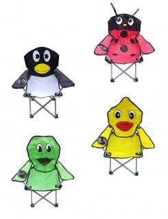Kinder-Faltarmlehnstuhl mit Getränkehalter DIN EN71 Kinderstuhl Campingstuhl Gartenstuhl Angelstuhl Strandstuhl verschiedene lustige Motive wählbar