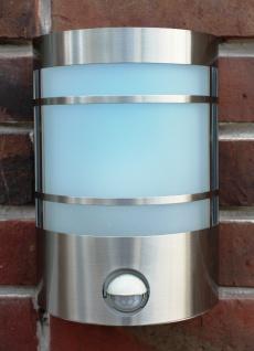 Edelstahl Wand-Außenleuchte IF-Bewegungsmelder mit LED Energiesparlampe 7 Watt