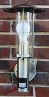 Außenlampe Edelstahl Außenleuchte Hoflampe mit IR Bewegungsmelder Wandlampe