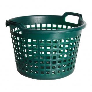 Universalkorb Kunststoff rund 15 kg grün, Garten Laub Ernte Obst Kartoffel Korb