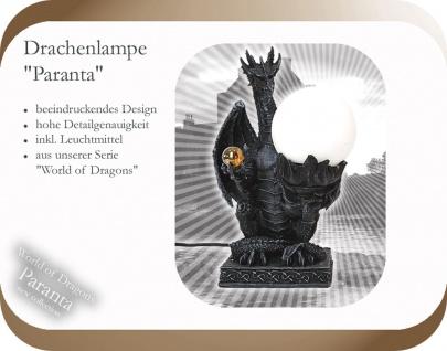 Drachenlampe Tischlampe Drache Gothic Mystik Fantasie