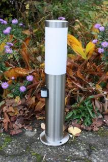 Edelstahl Standleuchte mit LED 9 Watt Standlampe Sockelleuchte 45cm IF-Sensor