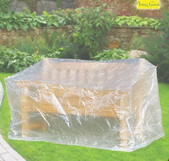 Komfort Schutzhülle für Gartenbank Bank 160 x 75 x 78 cm transparent