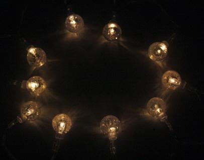 LED-Lichterkette mit 10 Kugeln, Batteriebetrieb, Weihnachtsdekoration, Ambiente - Vorschau 2