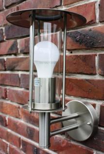 Außenlampe Edelstahl mit LED Leuchtmittel 7 Watt Außenleuchte Wandlampe NEU - Vorschau 2