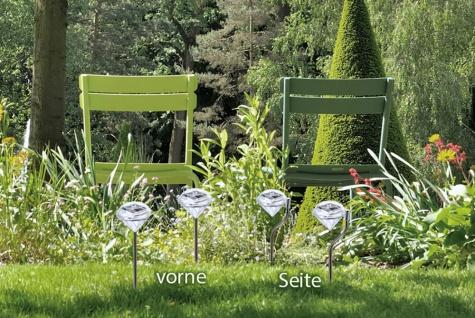 4er Set LED Solarlampe Kristall, Solarleuchte mit Erdspieß, Deko, Gartendeko - Vorschau 2