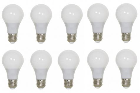 10er Set LED E 27 9 Watt Leuchtmittel warmweiß 2700K 806Lm bis 20000h