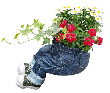 Pflanztopf Kantenhocker zum Bepflanzen lustige Deko Hose Gartendeko Blumentopf - Vorschau 1