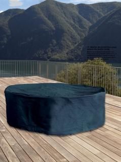 Schutzhülle Schutzabdeckung für Sitzgruppe rund bis 200 cm anthrazit