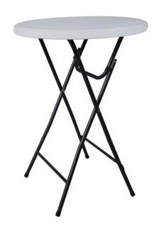 Bistro-Stehtisch klappbar Ø 80 cm Bistrotisch in Gastroqualität Partytisch