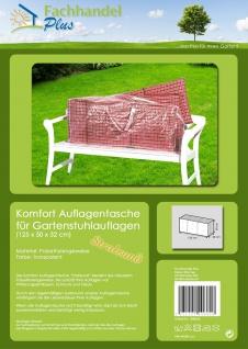 Komfort Schutzhülle für Hochlehner Auflagen 125x32x50cm Tragetasche f.Sitzkissen - Vorschau 2