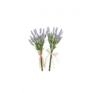 2er Set Lavendel-Bund mit je 7 Stiele Kunstblumen Lavendelzweige Dekoblumen