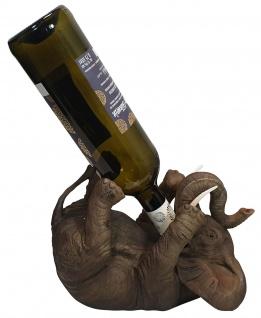 Flaschenhalter Weinflaschenhalter durstiger Elefant Figur Skulptur lustige Deko