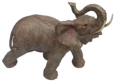 Dekofigur Elefant Glückselefant afrikanische Figur Tierfigur stehend 30x35x21cm