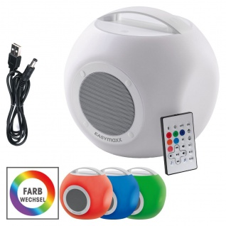 EASYmaxx LED-Bluetooth-Lautsprecher Colorcube Farbwechsel Akku In- und Outdoor