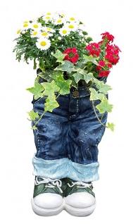 Pflanztopf Kantenhocker zum Bepflanzen lustige Deko Hose Gartendeko Blumentopf - Vorschau 2