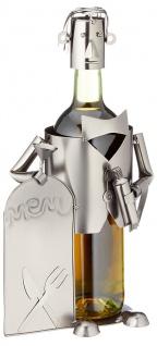 Flaschenhalter Weinflaschenhalter Kellner Metall Skulptur Figur Deko Geschenk