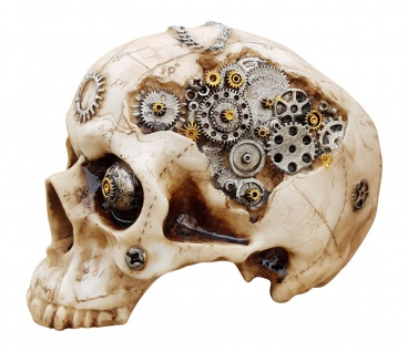 Dekofigur Totenkopf Steampunk Totenschädel Skull Gothic Mystik Fantasy Deko