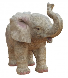 Dekofigur Elefant Glückselefant stehend afrikanische Figur Tierfigur 23x31x17 cm