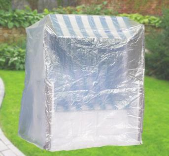 Komfort Schutzhülle XXL Abdeckung für Strandkorb B130xT108xH165 cm transparent