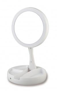 Kosmetikspiegel mit Vergrößerung und Handspiegel im Set mit LED-Beleuchtung