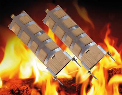 Flammlachs Bretter Set 2teilig inkl. Befestigungsmaterial Holz