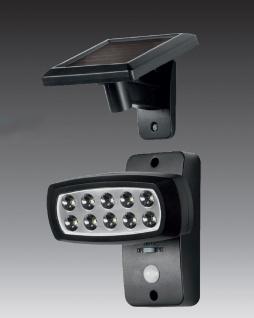 Solar LED Strahler Spot Solarleuchte Solarstrahler mit IF-Bewegungsmelder