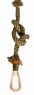 Ausgefallene Hängelampe Tau, Seil, Kordel, Antik, Retro, Vintage, Pendelleuchte