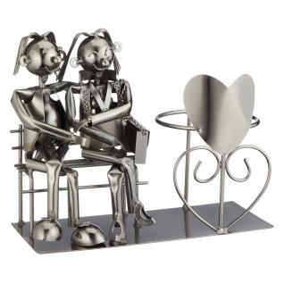 Flaschenhalter Weinflaschenhalter Eisen Skulptur Deko Liebespaar Figur