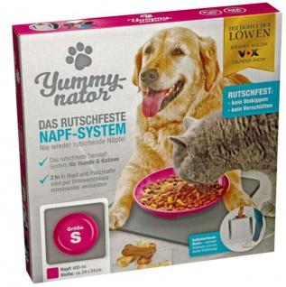 Futternapf mit rutschfester Platzmatte Yummynator Hund Katze Futterstation