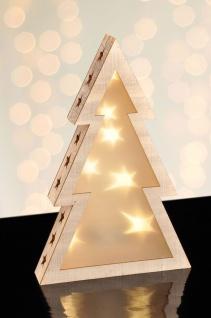 LED Holz Tannenbaum Hologrammfolie 3D-Effekt Weihnachtsbaum LED-Lichterkette