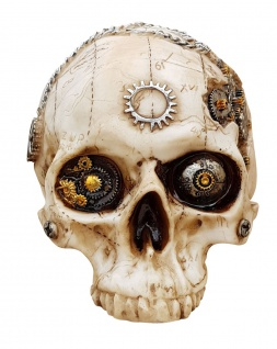 Dekofigur Totenkopf Steampunk Totenschädel Skull Gothic Mystik Fantasy Deko - Vorschau 2