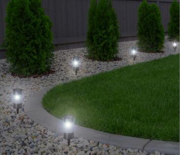 5er Set LED Solarleuchte Solarlampe Solarstick Wegbeleuchtung Gartendekoration - Vorschau 2