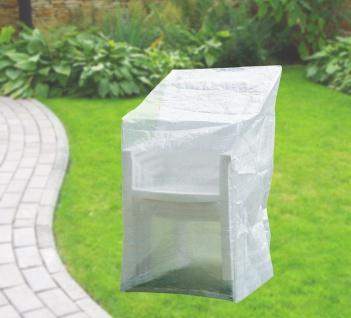 Komfort Schutzhülle für Stapelstühle Stuhl Schutzhaube 65x110x150 cm transparent