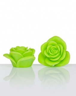LED-Kerzen Rosenform grün 2er-Set Batterie Timer LED-Beleuchtung RGB-Farbwechsel