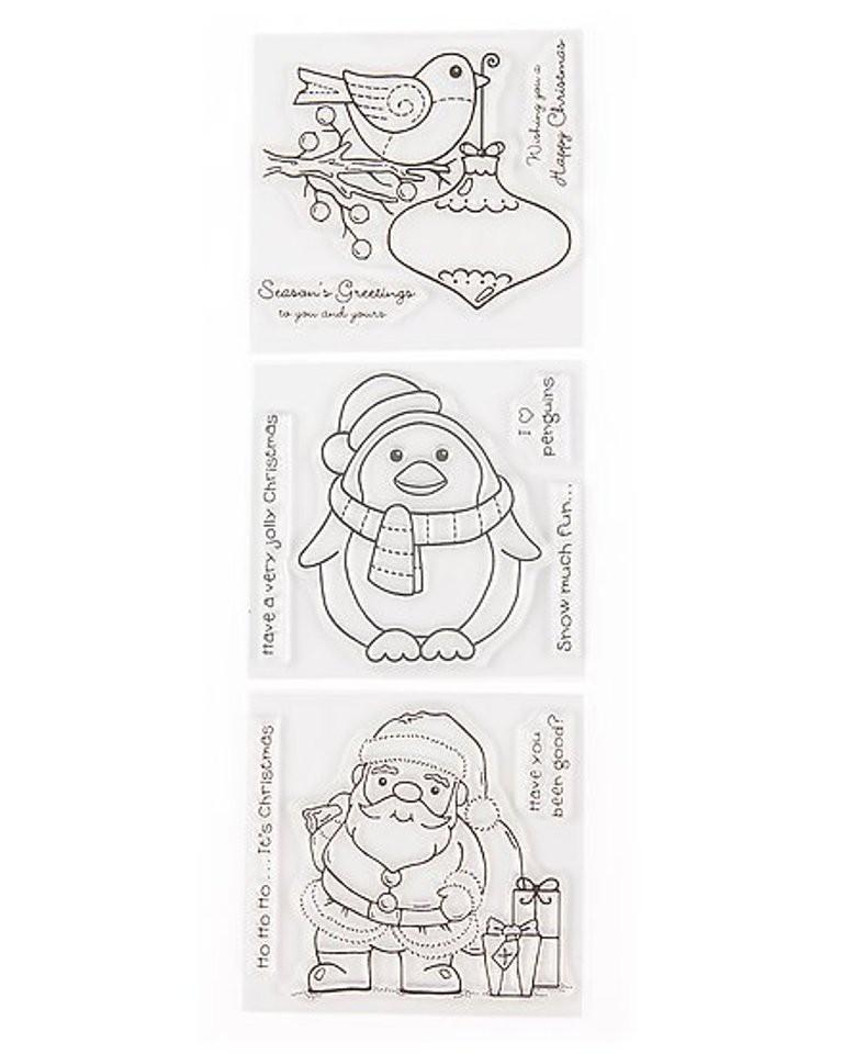 Niedliche Weihnachtsstempel, Weihnachtspost, Dekorieren, Basteln ...