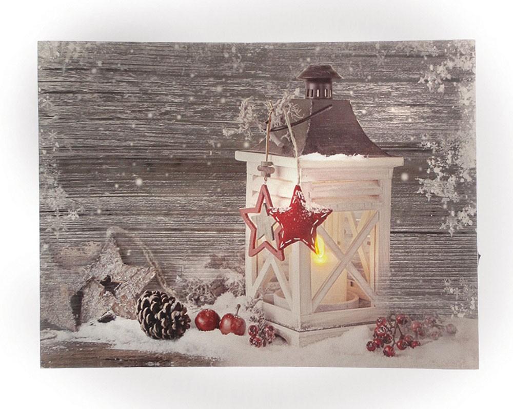 Leinwandbild Mit Led Beleuchtung 30 X 40 Cm Wandbild Mit Laterne