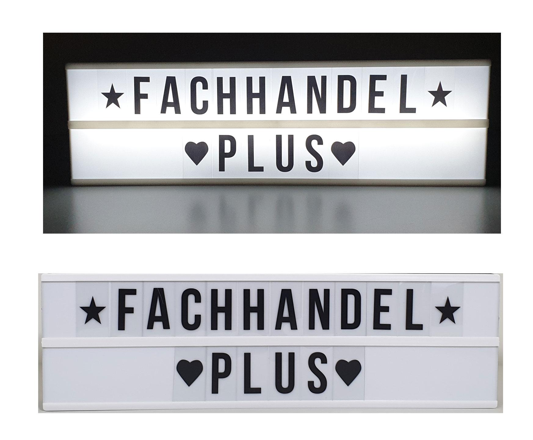Light Box LED Lichtbox Sprechblase mit Whiteboard-Stift batteriebetrieben