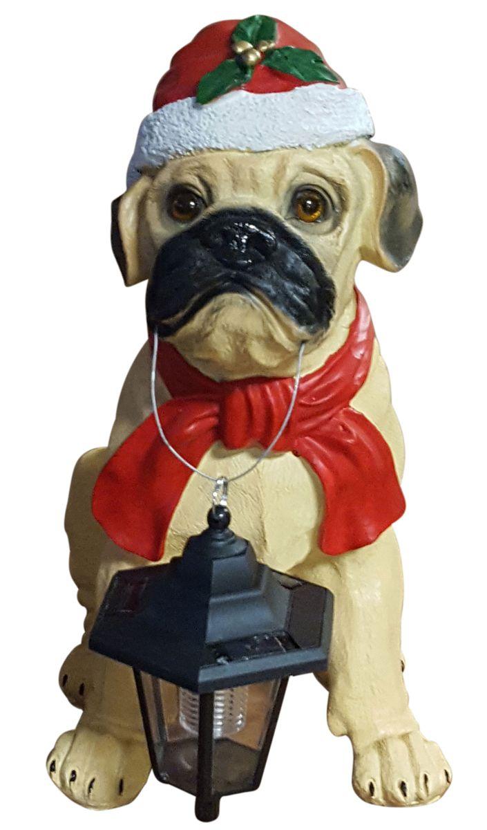 Mops Bilder Weihnachten.Dekofigur Hund Mit Led Solarlampe Und Weihnachtsmütze Weihnachtsfigur 42 Cm Weihnachtsdeko Led Tierfigur Mops Deko Für Weihnachten