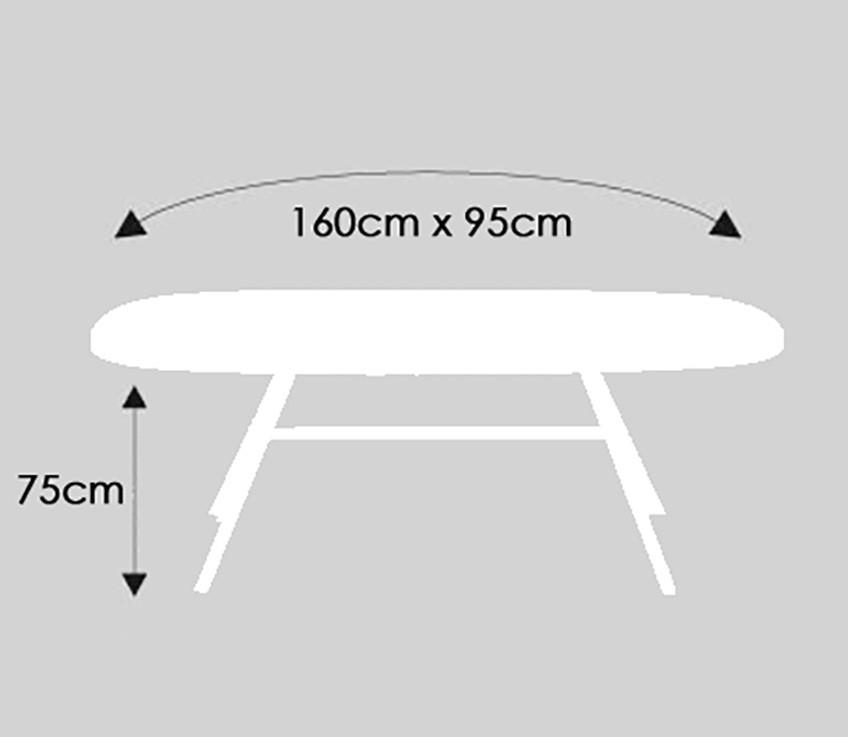 ... Komfort Schutzhülle Für Tisch Oval 160 Cm, Möbelschutzhülle Transparent  3
