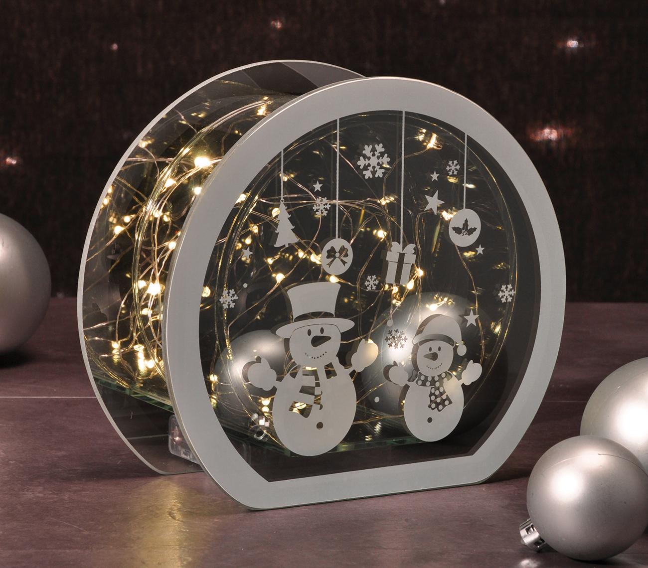 weihnachtsdeko mit led beleuchtung aus glas lichterkette. Black Bedroom Furniture Sets. Home Design Ideas
