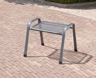 Stapelhocker Sitzhocker Fußhocker Beistellmöbel Stuhl Stahl 52x58x48 cm