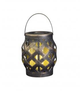 LED Deko Korb-Laterne Flammenlicht-Effekt Timer Indoor Outdoor batteriebetrieben
