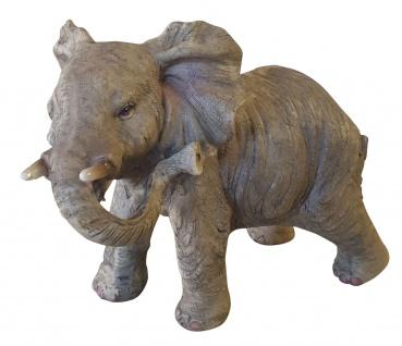 Elefant Glückselefant afrikanische Skulptur Deco Afrika niedliche Deko-Figur B