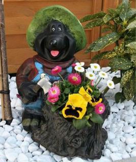 Mauli am Baumstumpf Pflanzkübel Blumenkübel Blumen Gartenfigur