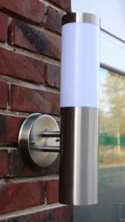 Edelstahl Außenlampe mit LED Leuchtmittel 7 Watt Außenleuchte Wandlampe NEU - Vorschau 2