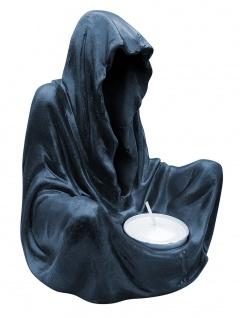 Deko-Figur Geist im Umhang mit Teelicht Gothic Mystik Fantasy Teelichthalter - Vorschau 2