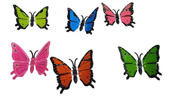 Gartenstecker Schmetterlinge 6 Stück groß Gartendeko Tierfiguren Dekofiguren