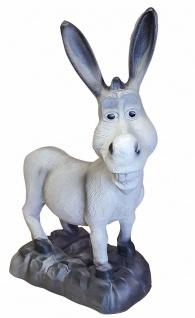 Esel lustige Deko Figur Gartenfigur Tierfigur Dekoration für Innen und Außen